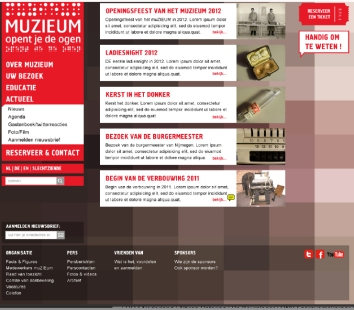 Website opzetten MuZIEum 2012